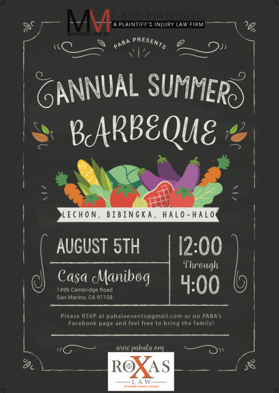 PABA Annual Summer BBQ (Past)