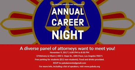 Annual Career Night on Nov. 9, 2017 (Past)