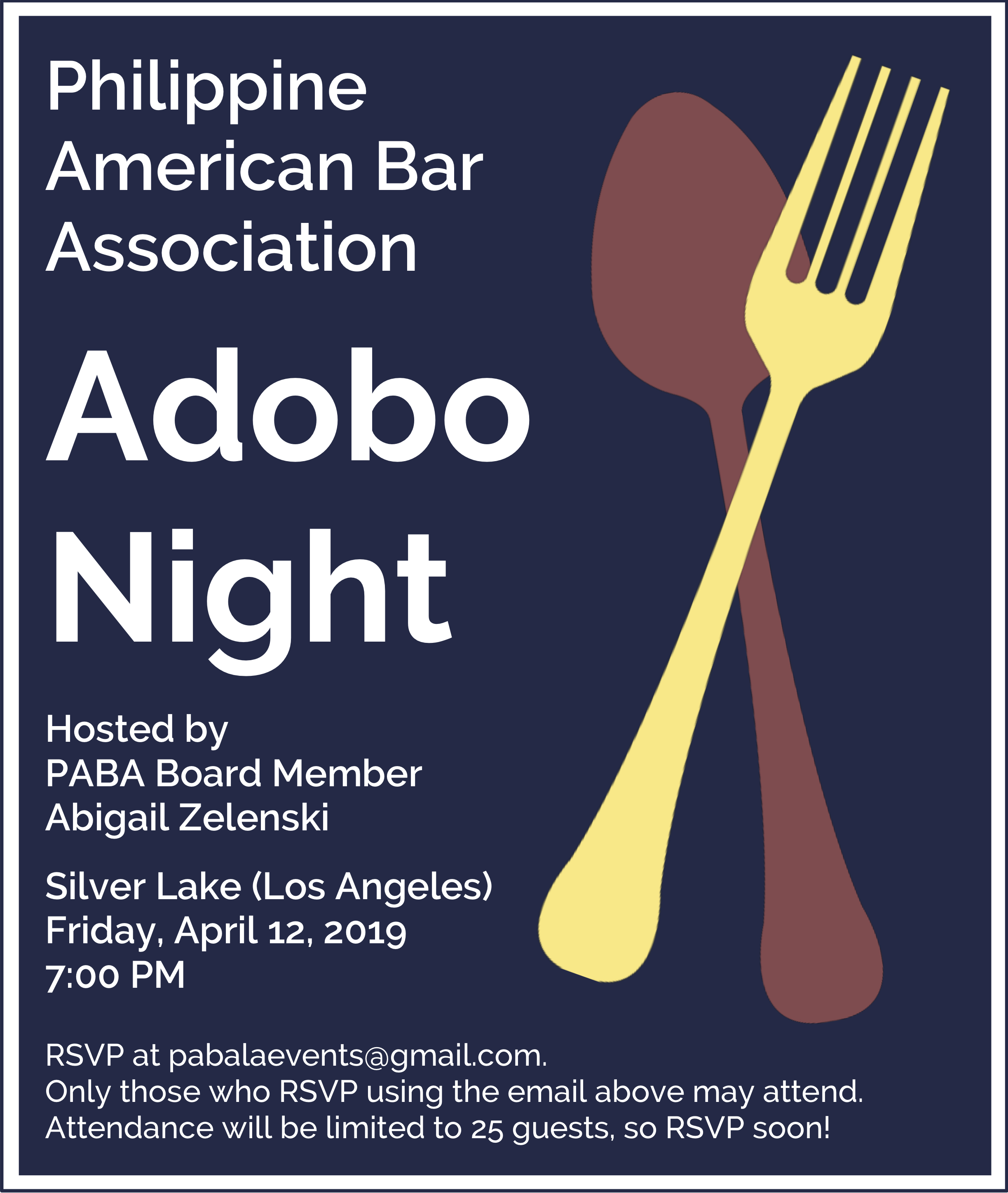 April 12 – Adobo Night in Silver Lake