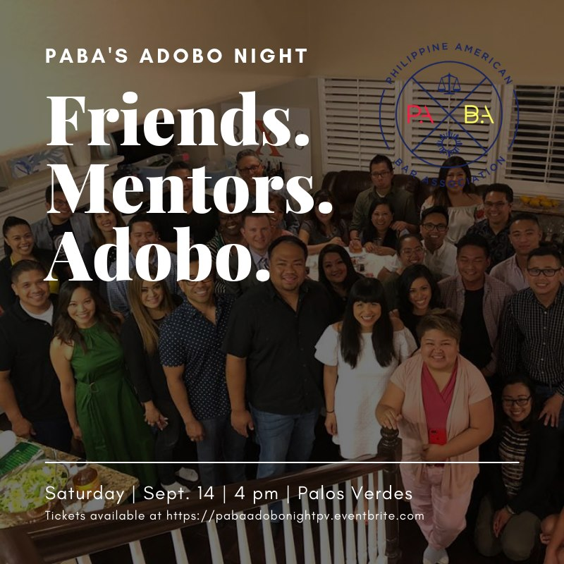 Sept 14 – Adobo Night in Palos Verdes