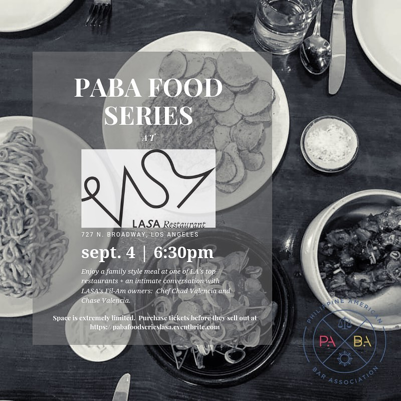 Sept 4 – PABA Food Series at LASA
