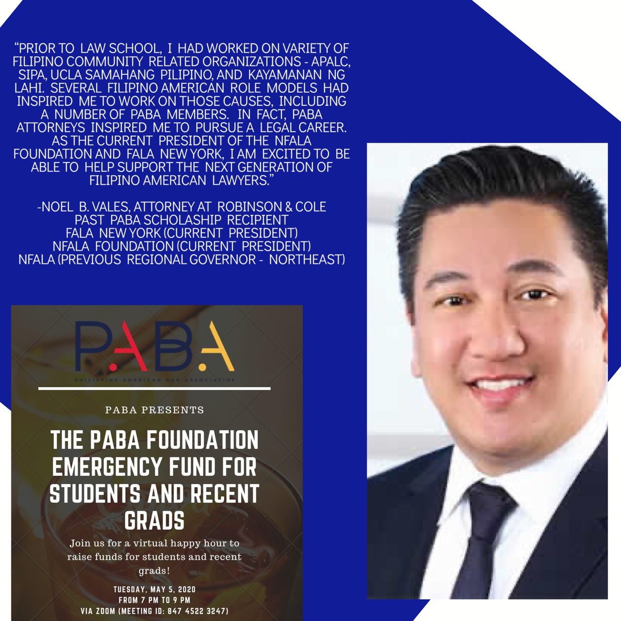 Past PABA Scholarship Recipient Spotlight: Noel B. Vales