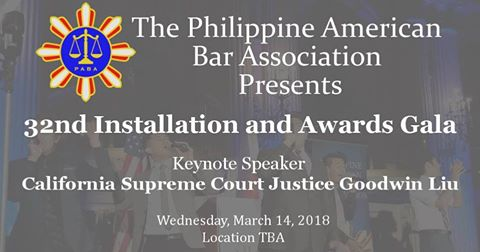 PABA's 32nd Annual Installation and Awards Gala on Mar. 14,2018 (Past)