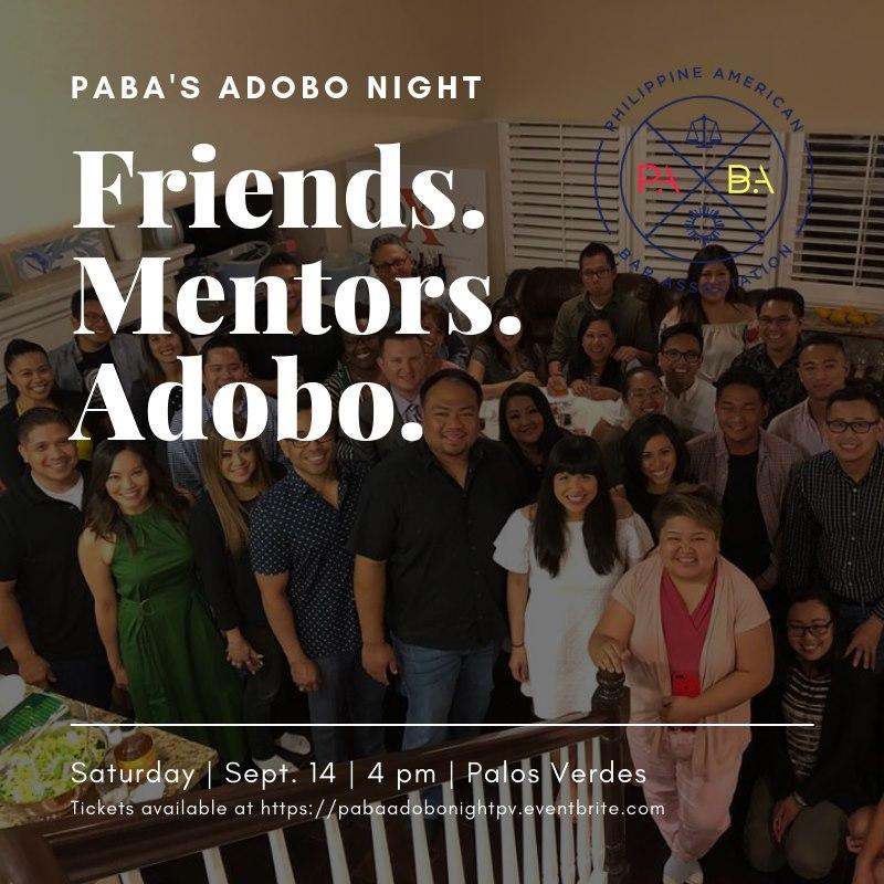 Sept 14 – Adobo Night in Palos Verdes