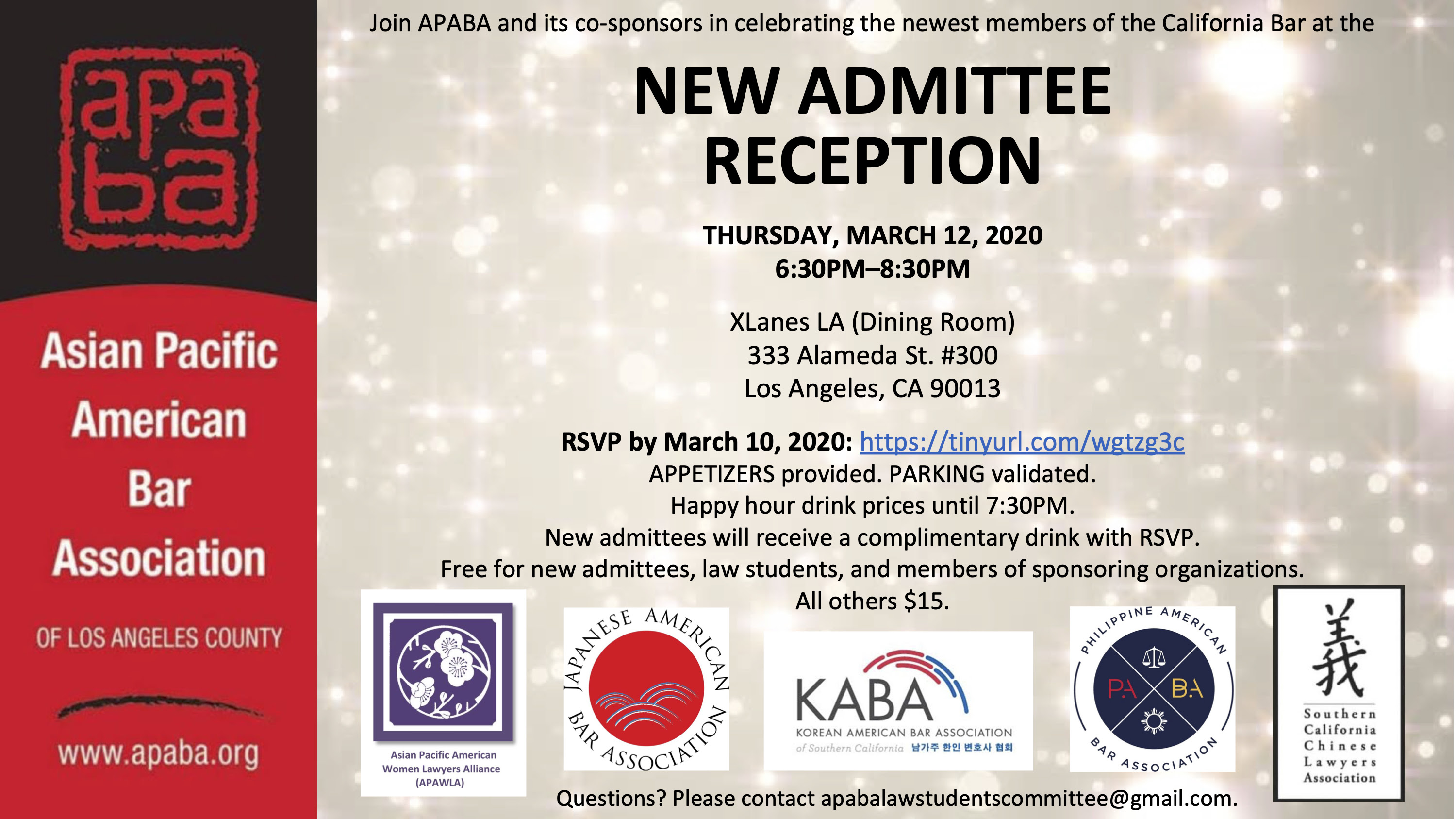 Joint Event – Mar 12 – New Admittee Reception